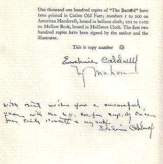 The Bastard [Signed, With Interesting Inscription]