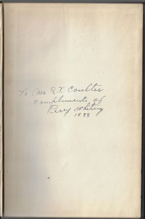 Autobiography of Perry Whiting, Pioneer Building Material Merchant of Los Angeles [SIGNED]